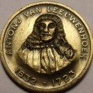 Unc Antonj Van Leeuwenhoek Medallion~First To Observe & Discribe Bacteria~Fr/Shi