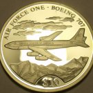 Silver Proof Liberia 2000 $10.00~Air Force One Boeing 707~Free Shipping