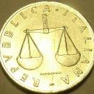 Unc Italy 1954-R Lira~Cornucopoia~Balance Scales~Free Shipping*