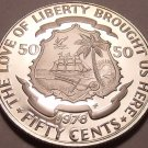 Rare Proof Liberia 1978 50 Cents~Only 7,311 Minted~Fantastic~Free Ship