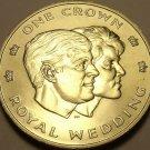 Rare Gem Unc Turks & Caicos Islands 1986 Crown~Prince Andrews Marriage~Free Ship