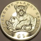 Gem Unc Eritrea 1995-PM Dollar~Preserve Planet Earth~Lions~Free Shipping