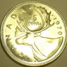 Proof Canada 1970 25 Cents~Caribou Quarter~645,869 Minted~Excellent~Free Ship