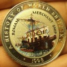 Proof Somalia 1998 25 Shillings~Roman Merchant Ship~Multicolored~Free Shipping