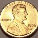 United States Unc 1996-D Lincoln Memorial Cent~Free Shipping