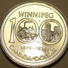 Proof Canada 1974 Winnipeg Dollar~100 Year Anniversary~Excellent~Free Shipping