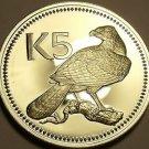 Silver Proof Papua New Guinea 1975 5 Kina~The New Guinea Eagle~Awesome~FR/Ship