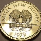 Extremely Rare Proof Papua New Guinea 1979 5 Toea~Turtle~2,728 Minted~Free Ship