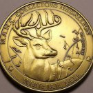 Massive 38.5mm North America Hunting Club WhiteTail Deer Big Game Medallion~F/S