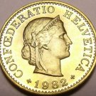 Gem Unc Switzerland 1982-B 5 Rappen~Excellent Coin~Free Shipping