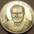 Silver-Plated Cameo Proof Franklin D. Roosevelt Proof Medallion~Free Shipping