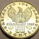 Gem Unc Greece 1973 50 Lepta~Soldier In Front Of Phoenix~Large Head Variety~Fr/S