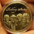 Huge 42mm Gold Plated Rolling Stones Proof Medallion~Excellent~Free Shipping