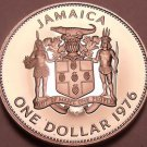 Rare Proof Jamaica 1976 Dollar~24,000 Minted~Prime Minister~Free Shiping