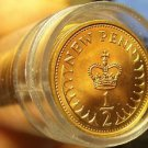 Gem Unc Roll (50 Coins) Great Britain 1980 Half Pennys~Excellent~Free Shipping