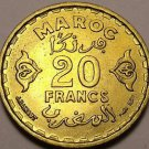 Gem Unc Morocco AH-1371 (1952) 20 Francs~Excellent~Free Shipping