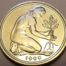 Gem Cameo Proof Germany 1999-D 50 Pfennig~Women Planting An Oak Seedling~Free Sh