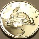 Rare Proof Jamaica 1973 5 Cents~American Crocodile~28,000 Minted~FreeShipping