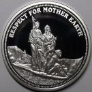 Silver Plated Cameo Proof Indian Respect For Mother Earth Medallion~Free Ship
