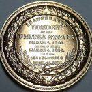 Gem Unc Abraham Lincoln Inauguration Medallion~33.6mm~Excellent~Free Shipping