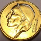 Gem Unc Belgium 1992 50 Centimes~Helmted Mine Worker~Free Shipping