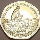 Gem Unc Guyana 2007 $10.00~Traditional Gold Mining With Pans~Free Shipping
