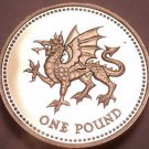 Cameo Proof Great Britain 2000 Pound~Dragon Passant~True am I to my country~Fr/S