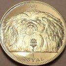 Rare Silver Proof Gibraltar 1994 Royal~Only 50,000 Minted~Pekingese Dog~Free Shi