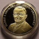 Gem Cameo Proof 24k Gold Plated Harry S. Truman 33rd President Medallion~Free Sh