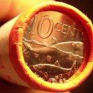 Gem Unc Original Roll (40) Bahamas 2010 10 Cents~Bone Fish~Scalloped~Free Ship