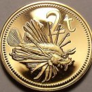 Rare Proof Papua New Guinea 1976 2 Toea~Butterfly Cod~16,000 Minted~Free Ship