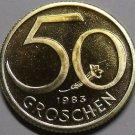 Proof Austria 1983 50 Groschen~65,000 Minted~Austrian Shield~Free Shipping