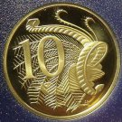 Rare Cameo Proof Australia 1983 10 Cents~LyreBird~80,000 Minted~Free Shipping