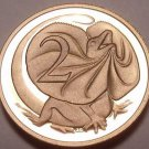 Cameo Proof Australia 1985 2 Cents~Frilled-Neck Lizard~75,000 Minted~Free Ship