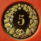 Rare Proof Switzerland 1983 5 Rappen~Only 11,000 Minted~Free Shipping
