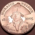 Rare Proof Great Britain 2005 5 Pounds~Admiral Horatio Nelson~50,000 Minted~Fr/S