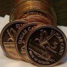 Gem Unc Roll (40 Coins) Guyana 1996 5 Dollars~Sugar Cane~$200 Total~Free Ship