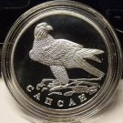 Fantasy Silver-Plated Proof Russia 1996 Rouble~Peregrine Falcon~Free Shipping