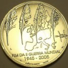 Rare Gem Unc Silver Portgal 2005 8 Euros~60th Anniv End Of World War II~Free Shi