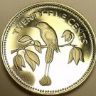 Rare Silver Proof Belize 1974 25 Cents~Blue-Crowned Mut-Mut~31,000 Minted~Fr/Shi