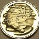 Rare Proof Australia 1975 20 Cents~Duckbill Platypus~23,000 Minted~Free Shipping
