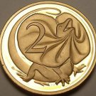 Cameo Proof Australia 1989 2 Cents~Frilled-Neck Lizard~67,000 Minted~Free Ship