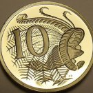 Cameo Proof Australia 1989 10 Cents~Lyrebird~67,000 Minted~Free Shipping