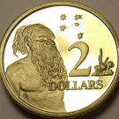 Cameo Proof Australia 1989 2 Dollars~Aboriginal Man ~67,000 Minted~Free Shipping