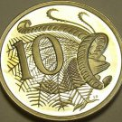 Cameo Proof Australia 1982 10 Cents~Lyrebird~100,000 Minted~Free Shipping