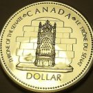 Silver Proof Canada 1977 Dollar~Silver Jubilee~Throne~225,307 Minted~Free Ship