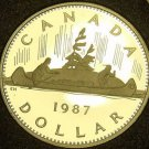 Proof Canada 1987 Canoe Dollar~Only 175,686 Minted~Proofs Are Best~Free Shipping