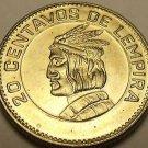 Gem Unc Honduras 1973 20 Centavos~Chief Lempira~Fantastic~Free Shipping