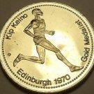 Large Gem Unc Kip Keino~Gold Medalist Medallion~Excellent~Free Shipping