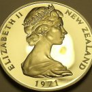 Rare Large Proof New Zealand 1971 20 Cents~5,000 Minted~Kiwi Bird~Free Shipping
